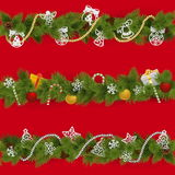 Vector Christmas Borders Stock Image
