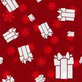 Vector Christmas Boxes. Vector Christmas Background with Boxes Royalty Free Stock Image