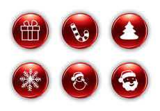 Vector christmas buttons Stock Photo