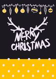 Vector Christmas Calligraphic Design Mary Christmas lettering with gold texture Stock Photos