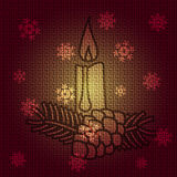 Vector Christmas Candle. Vector Christmas Background with Candle Royalty Free Stock Photography