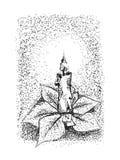 Vector -Christmas candle Stock Image