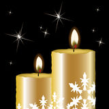 vector christmas candles Stock Images
