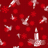 Vector Christmas Candles. Vector Christmas Background with Candles Royalty Free Stock Photos