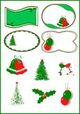 Vector christmas card Stock Photography