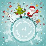 Vector Christmas card Royalty Free Stock Photos