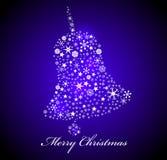 Vector Christmas card. Christmas bell shape Royalty Free Stock Photo