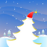 Vector Christmas Card. There is  Christmas Card Royalty Free Stock Photos