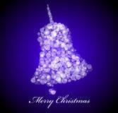Vector Christmas card. Blue bell Stock Photo
