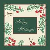 Vector Christmas Card Design Stock Photos