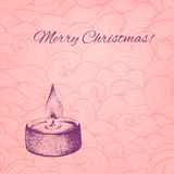 Vector Christmas card with dotted hand drawn Royalty Free Stock Photography