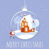 Vector Christmas card. Stock Photos