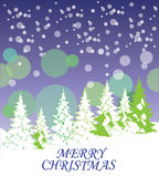 Vector Christmas Card Royalty Free Stock Images