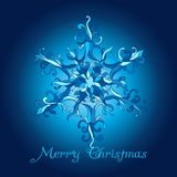 Vector Christmas Card. Lace SnowFlake Stock Photo