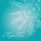 Vector Christmas Card. Lace SnowFlake Royalty Free Stock Images