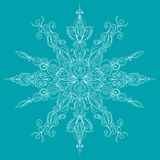 Vector Christmas Card. Lace SnowFlake Stock Photo