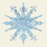 Vector Christmas Card. Lace SnowFlake Stock Photography