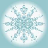 Vector Christmas Card. Lace SnowFlake Stock Photos