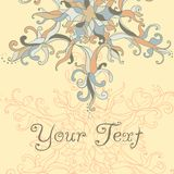 Vector Christmas Card. Lace SnowFlake Royalty Free Stock Image