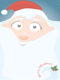 vector Christmas card with little Santa stock image