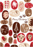 Vector - Christmas card with nice hand drawings. Vector drawing, vector elements about Christmas time Royalty Free Stock Image