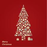 Vector Christmas card. Original Christmas background in fresh co Royalty Free Stock Photography