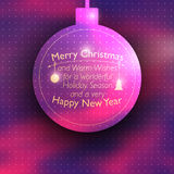 Vector Christmas card with place for your text Royalty Free Stock Photography