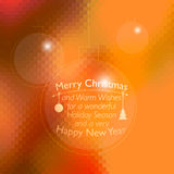 Vector Christmas card with place for your text Royalty Free Stock Images