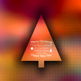 Vector Christmas card with place for your text Stock Images