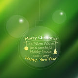 Vector Christmas card with place for your text Royalty Free Stock Image
