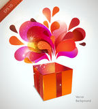 Vector christmas card with red explosion Stock Photos