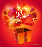 Vector christmas card with red explosion Royalty Free Stock Images