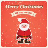 Vector christmas card with Santa Claus Royalty Free Stock Images
