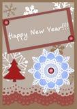Vector Christmas card in scrapbooking style Stock Photos