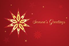 Vector Christmas card with star. Royalty Free Stock Image
