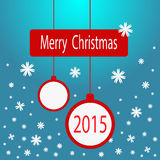 Vector Christmas card Stock Image