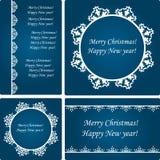 Vector  Christmas Card Templates Stock Image