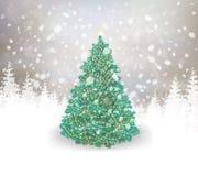 Vector Christmas card. Stock Photo