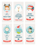 Vector christmas cards collection Royalty Free Stock Image