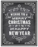 Vector Christmas Chalkboard Greeting Card Stock Image