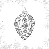 Vector Christmas Coloring Tree Decoration Bauble Royalty Free Stock Photo