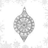 Vector Christmas Coloring Tree Decoration Bauble Royalty Free Stock Image