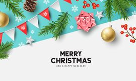Happy Christmas Background Design stock illustration