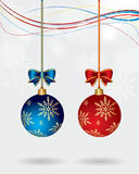 Vector Christmas Couple Balls Royalty Free Stock Photos