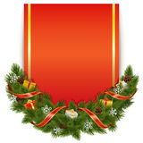 Vector Christmas Decoration with Postcard Royalty Free Stock Photography