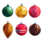 Vector christmas decorations Royalty Free Stock Images