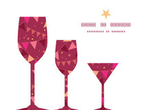 Vector christmas decorations flags three wine Stock Images