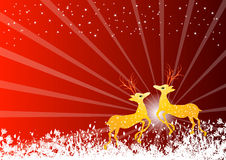 Vector christmas deers Royalty Free Stock Image