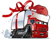 Vector Christmas delivery / cargo truck Royalty Free Stock Images