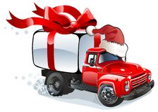 Vector Christmas delivery / cargo truck royalty free illustration